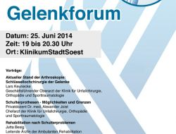 2. Soester Gelenkforum am 25. Juni